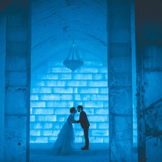 MARIAGE À L'ICE HOTEL, SUÈDE / NORVÈGE